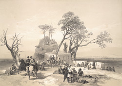 Panjab: Outpost of Rhodawala, occupied by the British Piquets on the 10th of February 1845.